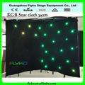 flyko 2 x 3 m led stella cortina stelle cloth stage di decorazione
