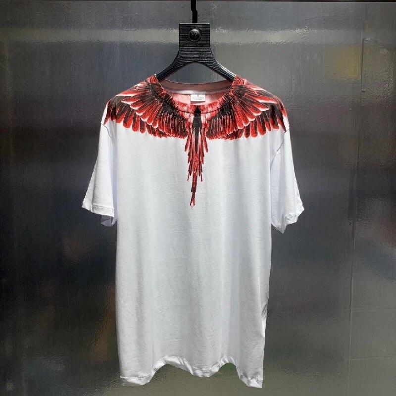 Marcelo Burlon T-shirt hommes femmes surdimensionné 1:1 meilleure qualité italie marque ailes de plumes MB T-shirt coton Marcelo Burlon