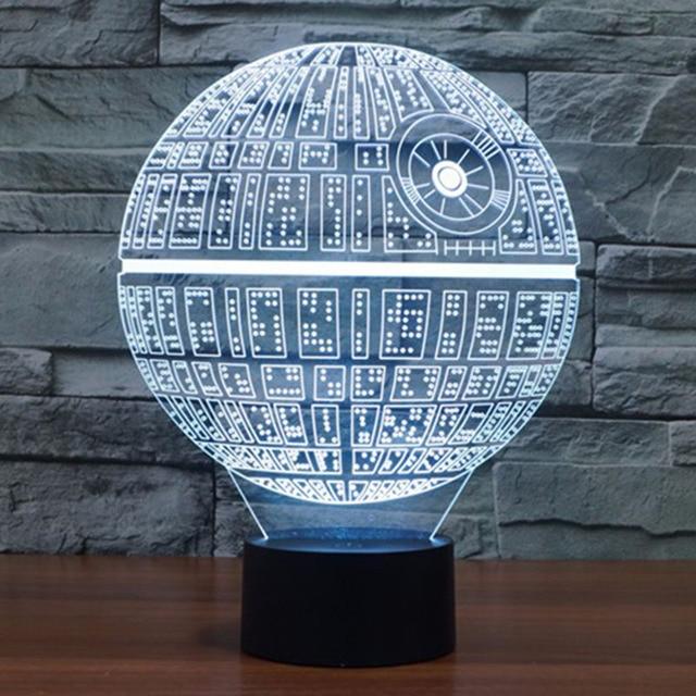3D BB-8 Star Wars Millennium Falcon Night Tabletop Laser Cut Desk Table Light USB LED Lamp