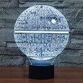 3D Star Wars Millennium Falcon BB-8 Noite Corte A Laser de Mesa Desk Mesa de Luz USB Lâmpada LED