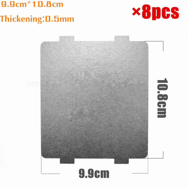 лучшая цена 8pcs 9.9*10.8cm Spare parts for microwave ovens mica microwave mica sheets for Midea magnetron cap microwave oven plates