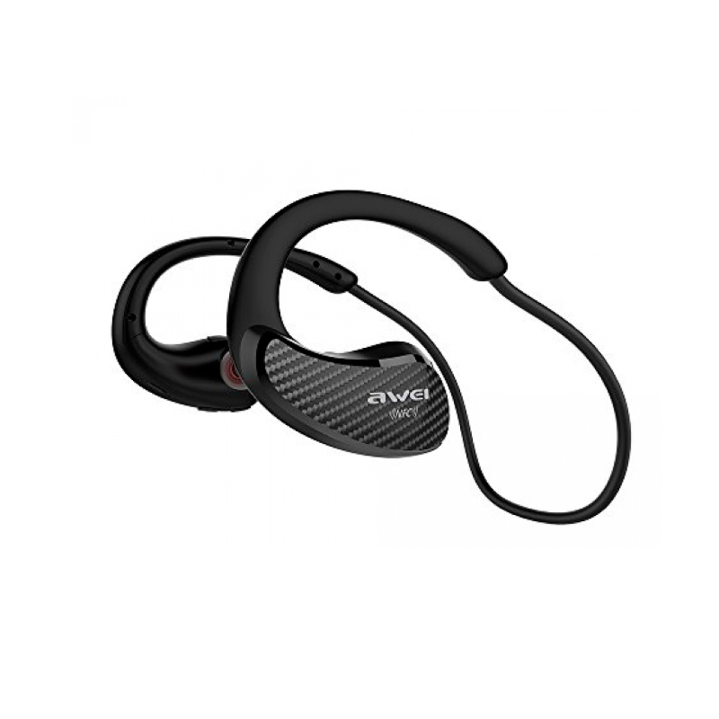 AWEI A881BL Bluetooth Earphone Waterproof Wireless sports waterproof with Microphone Noise Cancelling For Phone