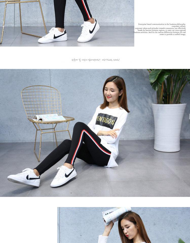 High Quality Cotton Leggings Side stripes Women Casual Legging Pant Plus Size 5XL High Waist Fitness Leggings Plump Female 23