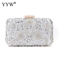 Evening Bags Diamond Rhinestone Beaded Wedding Clutch Gold Silver Women'S Purse Handbags Wallets Evening Clutch Bag Bolsa