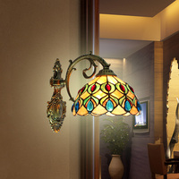Simple lamp wall lamp shell peacock bathroom mirror headlight lamp wall lamp shell European pastoral style