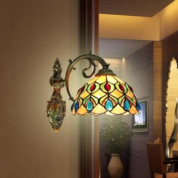 Simple lamp wall lamp shell peacock bathroom mirror headlight lamp wall lamp shell European pastoral style