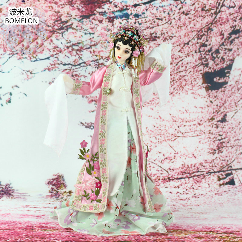 31cm DU SHINIANG Jointed Doll Hand-made Chinese Ancient Costume Bjd Dolls Opera Action Toy Figures Girls Gift Collection 11pcs lot mini resin doll three kingdoms heros toy figures original design china ethnic dolls gift chinese souvenirs decorations