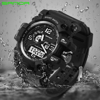 2017 Sanda Design Digital Watch Water Resistant Date Calendar Led Electronics Watches Men Military Army Sport