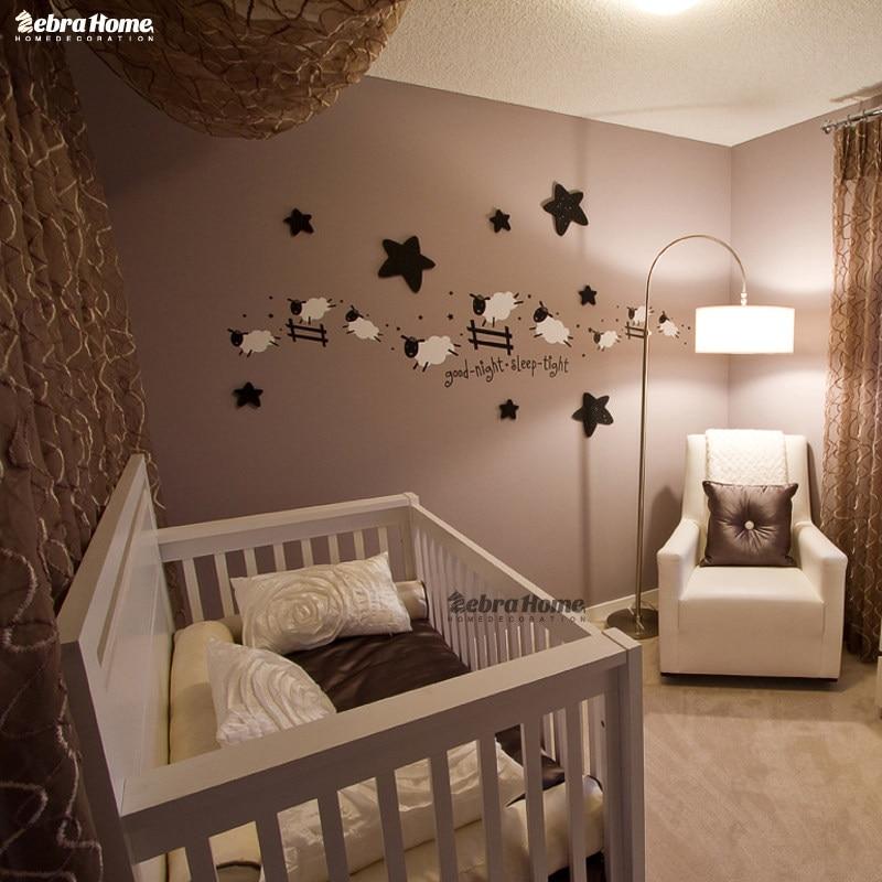 Charmant Springen Schafe Wandaufkleber Guten Schlaf Engen Aufkleber Zählen Schafe  Kinder Baby Room Schlafzimmer 40x120 Cm Dekoration