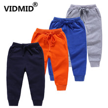 VIDMID Children Anti-Mosquito Pants trousers Casual Baby Pajama New Boys Girls Soft Cotton Bloom Clothing 7060 06