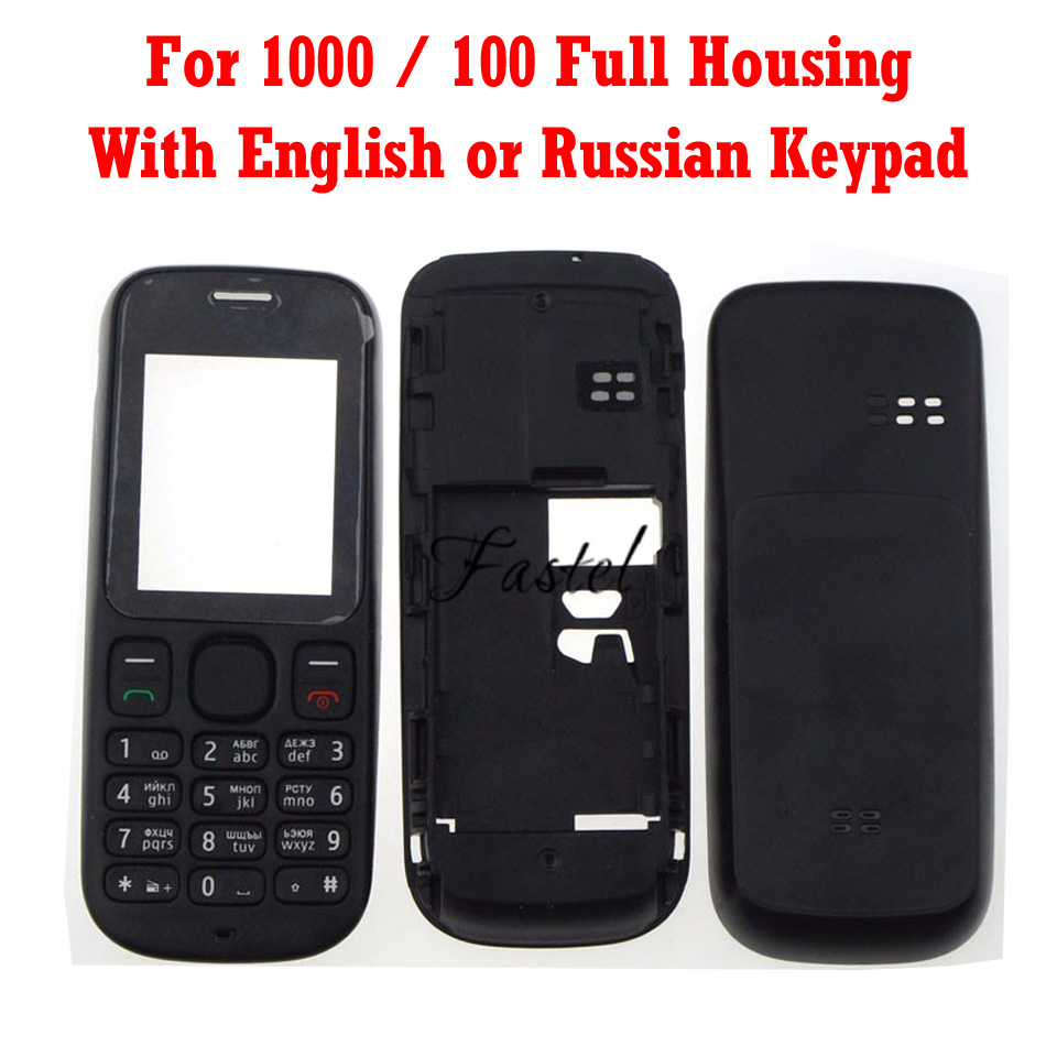 For Nokia 100 1000 New Full Complete Phone Housing Cover Case + English or Russian or Arabic Keypad