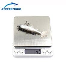 BlueSardine 5PCS Soft Bait Fishing Lures Plastic Isca Artificial Soft Lures Fishing Tackle Fish 14G 8.6CM