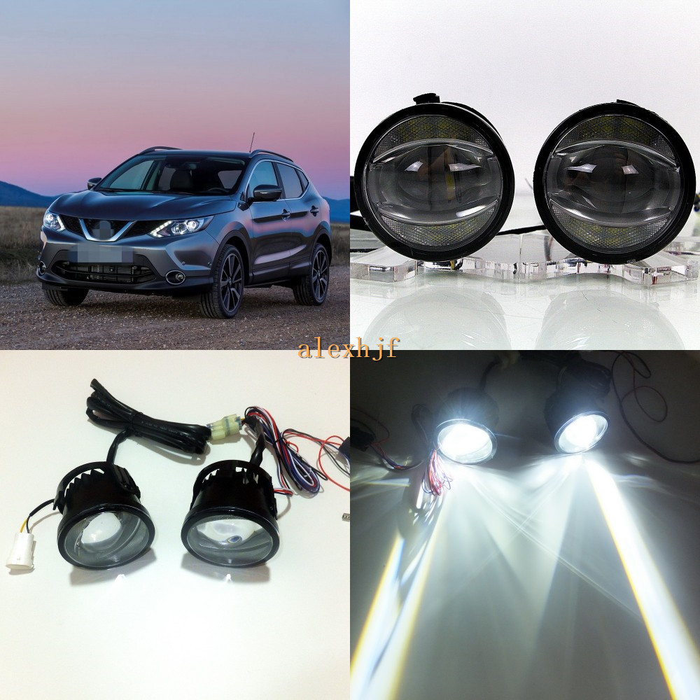 July King 1600LM 24W 6000K LED Light Guide Q5 Lens Fog Lamp +1000LM 14W Day Running Lights DRL Case for Nissan Qashqai 2014-17 july king 1600lm 24w 6000k led light guide q5 lens fog lamp 1000lm 14w day running lights drl case for nissan inifiniti series