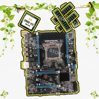 Computer DIY Runing X79 motherboard with M.2 slot brand motherboard with CPU Intel Xeon E5 2680 V2 SR1A6 RAM 32G 1600 REG ECC