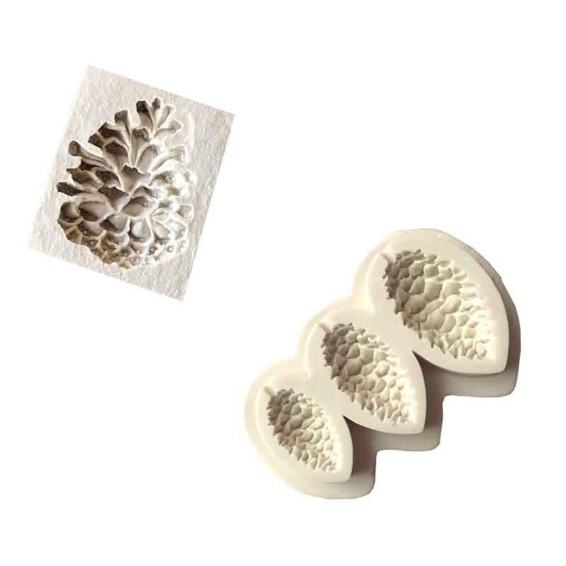 1 pieza conos de pino forma Sugarcraft silicona molde fondant molde pastel decoración herramientas chocolate
