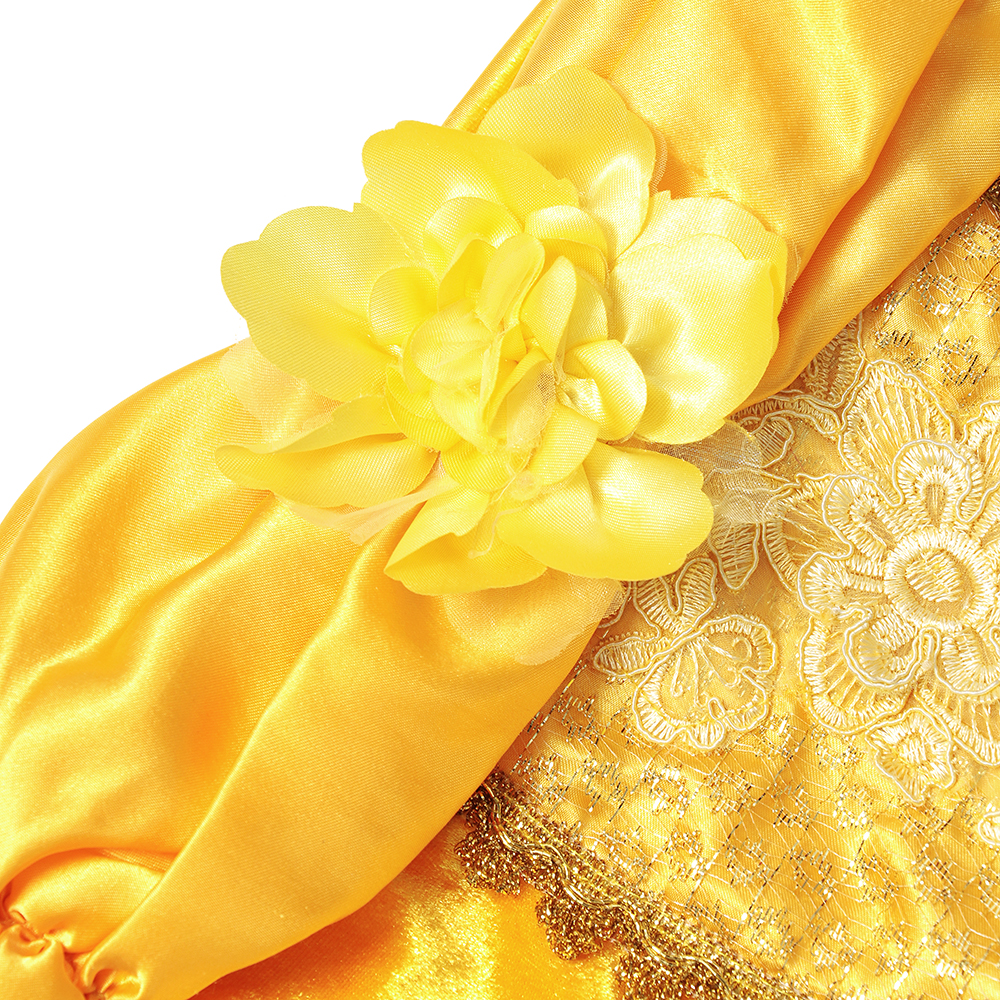 Deluxe Beauty and the Beast Princess Belle Halloween Costume Girls Model Show Photography Dress Kid Summer Cosplay Party Clothes in Dresses from Mother Kids