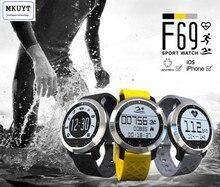F69 спортивные Смарт-часы IP68 сердечного ритма Фитнес трекер сна Мониторы шагомер вызова SMS напоминание (приложение установлен в родной язык)
