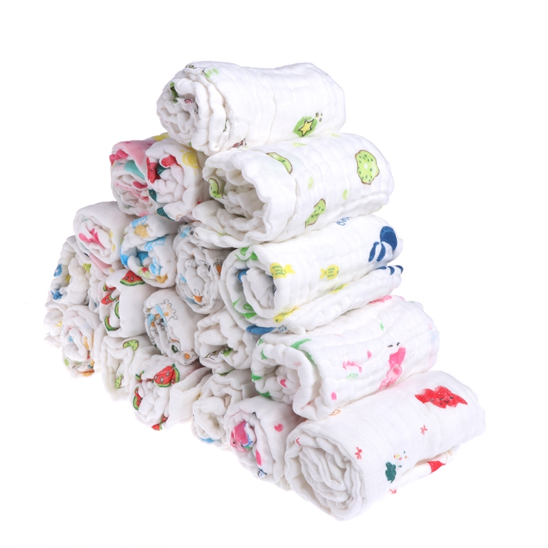 5pc/Set 6 Layers Baby Wipe Towel Soft Infant Girls Boys Feeding Handkerchief Wash Cloth JNA1 #330