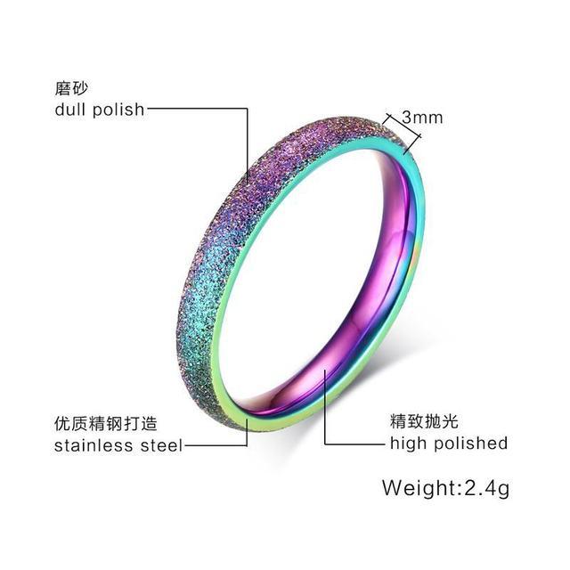 Купить модные блестящие полированные цветные кольца из нержавеющей картинки