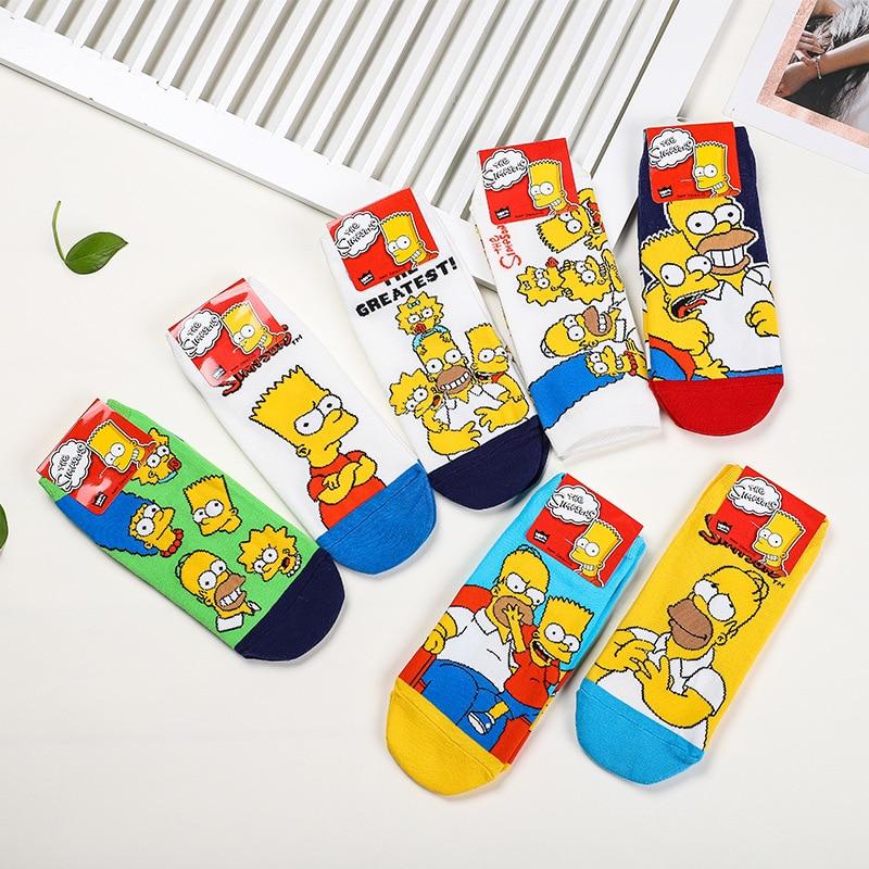 Korea Style Funny Women Casual Cartoon   Socks   Cute Happy Cotton   Socks   Ladies Novelty Spring Summer Short Ankle   Socks