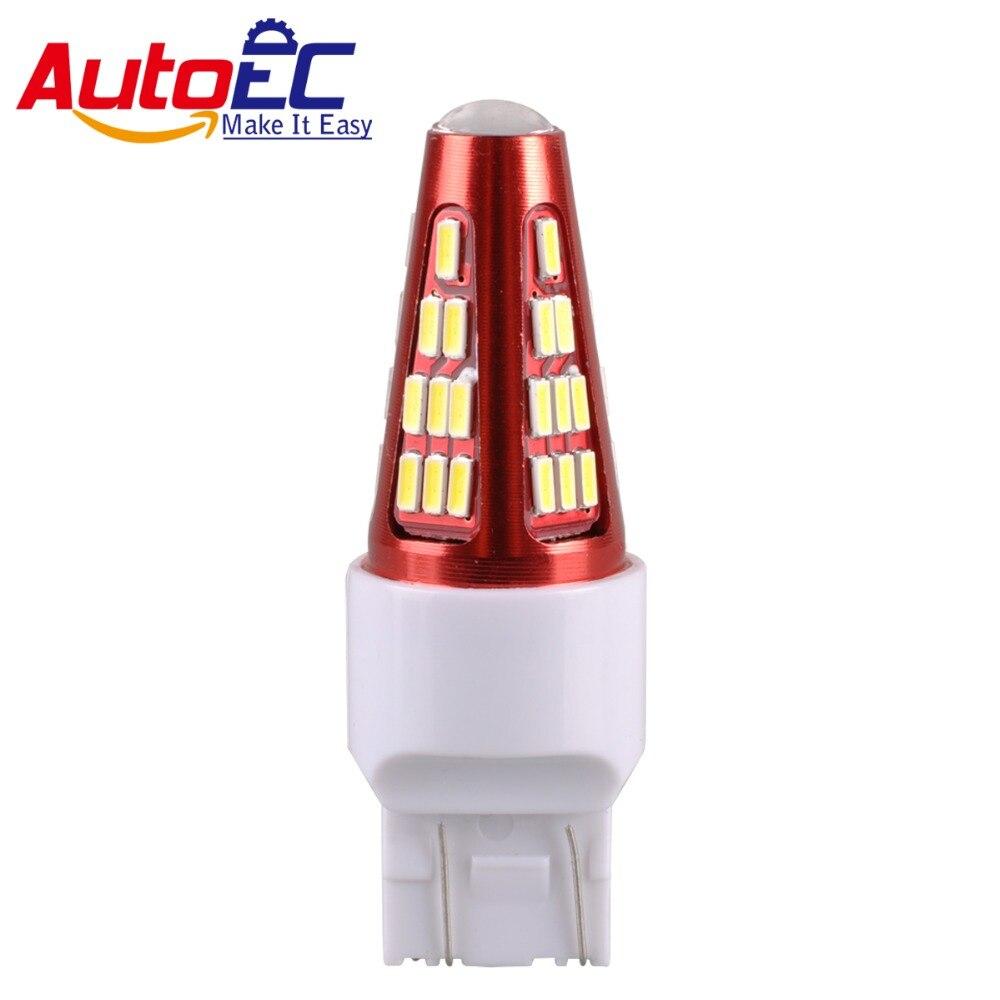 AutoEC 2x T20 7443 7440 w21 / 5w led žárovky pro auto směrové signály LED dioda DC12V bílá # LD30