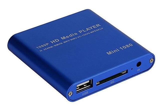 Красивый Подарок Новый ЕС Plug 1080 P Мини HDD Media Player MKV/H.264/RMVB HD с ХОСТА USB/SD Кард-Ридер Оптовая цена Dec30