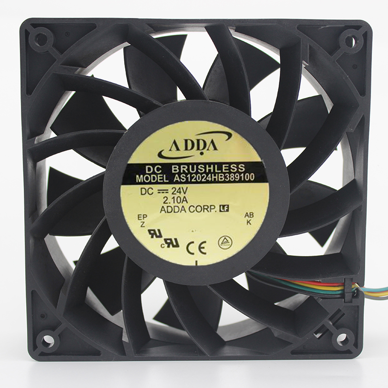 Original ADDA AS12024HB389100 12038 DC24V 2.1A 120 * 120 * 38mm Cooling Double Ball Fan sunon free shipping new original taiwan blower fan dp200a p n2123hsl 1238 12cm 12038 120 120 38mm 220v wire type