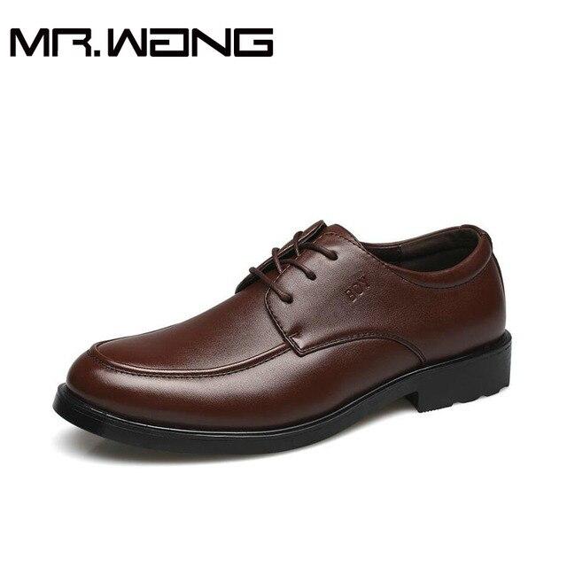 Дешевая Рабочая Офисные туфли мужские кожаные бизнес обувь свадебные туфли зашнуровать Острым Носом квартиры размер 38-44 AA-29