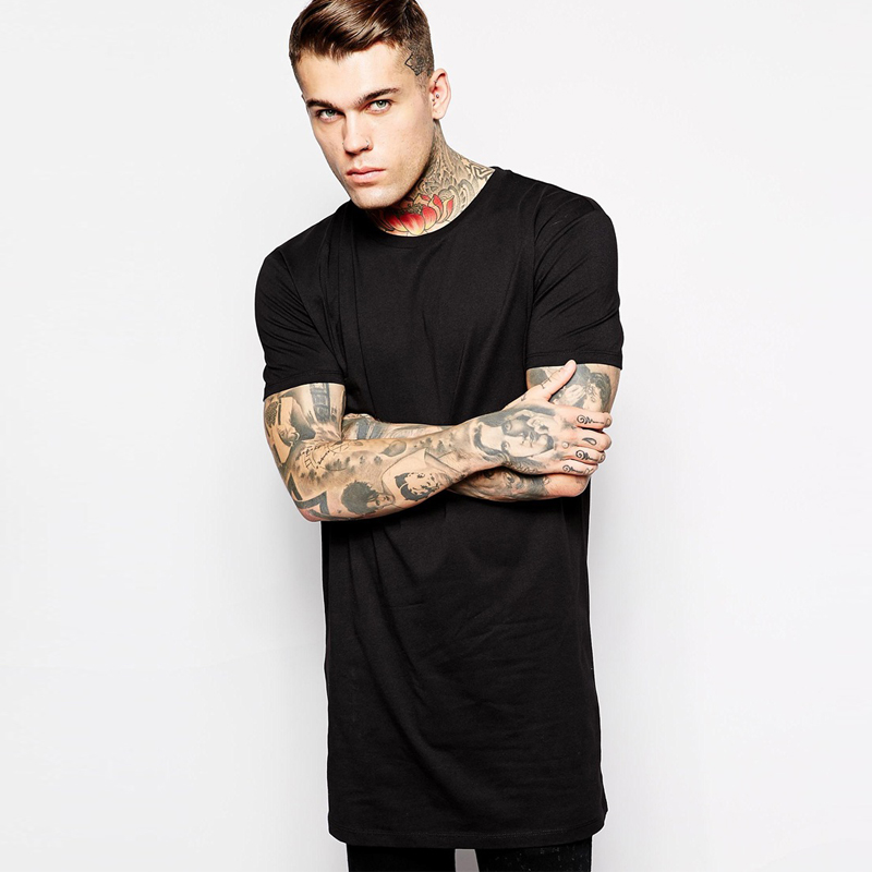 Longline T Shirts Mens Fashion
