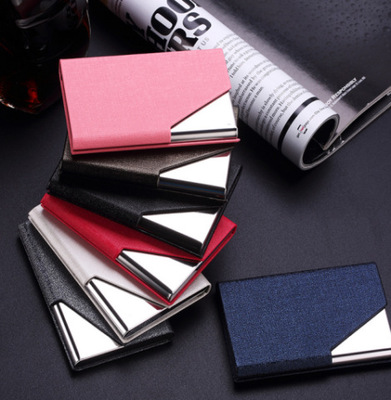 2016 Free Shipping!Waterproof Stainless Steel Silver Aluminium Metal Case Box Business ID Credit Card Holder Case Cover