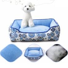 Venxuis CWaterproof Cat Sleeping Bed otton Színes kutya Sleeping Mat Nylon Virág Nyomtatás Pet Dog Bed Párna Removable Paw