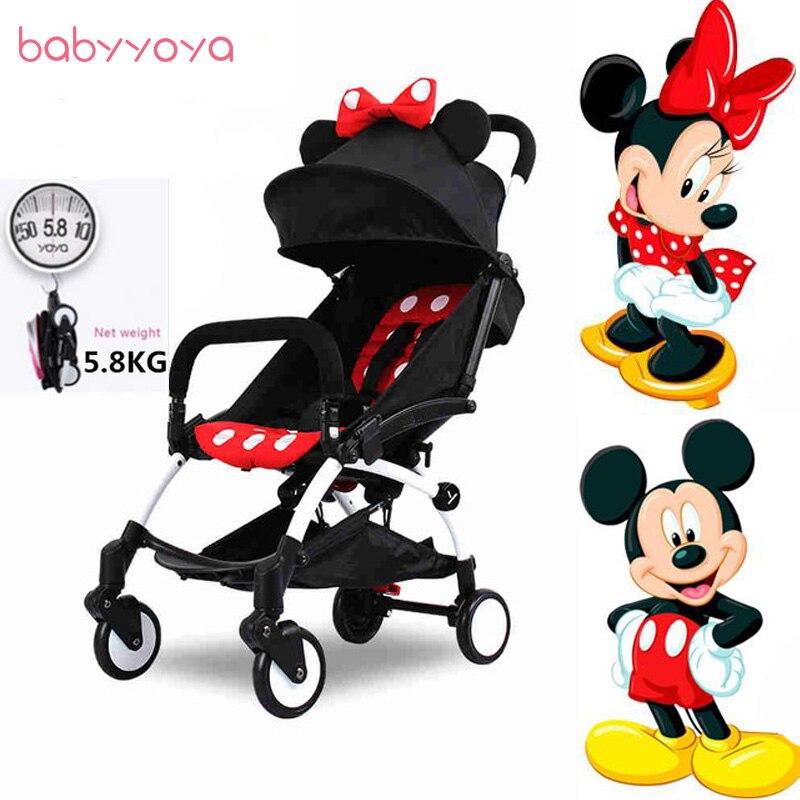 YOYA Baby Stroller Travel Portable Folding Babyyoya Stroller Pram Buggy Car Carriage Trolleys Umbrella Babyzen Yoyo Stroller