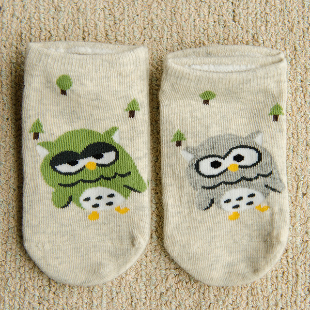 Summer Animal Baby Socks Owl Ankle Socks Cotton Kids Socks Cute