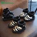 10-13 CM Botas de Niño Del Bebé Zapatos de Bebé de Cuero Niños Niñas Botines De Piel de La Muchacha Negro Amarillo Zapatos Del Niño Zapatos de Los Bebés