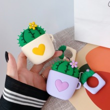 For AirPods Case Cute Lovely Cactus Prickly Pear Earphone Cases For Apple Air pods 2 Cover For