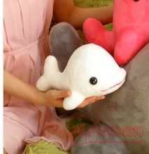 small cute toy big head dolphin toy stuffed white whale doll gift about 20cm