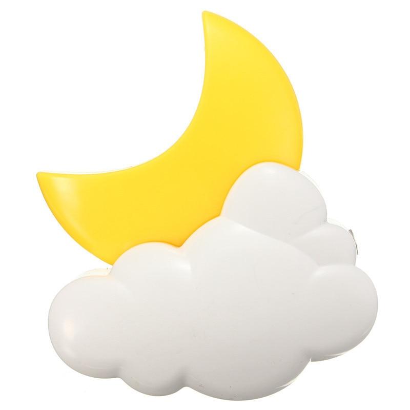 Night Lights Cartoon LED Moon Cloud Auto Light Sensor Children Baby Bedroom Lamp AC 110V 220V Home Decoration Wall Socket Lamp
