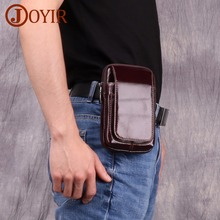лучшая цена JOYIR 2019 Genuine Leather Waist Bag Fanny Pack Belt Bag Phone Pouch Bags Travel Waist Pack Male Small Waist Packs Leather Pouch
