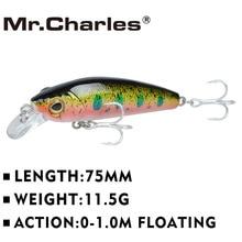 Mr.Charles CMC023 fishing lures 75mm/11.5g shad,quality professional minnow hard baits