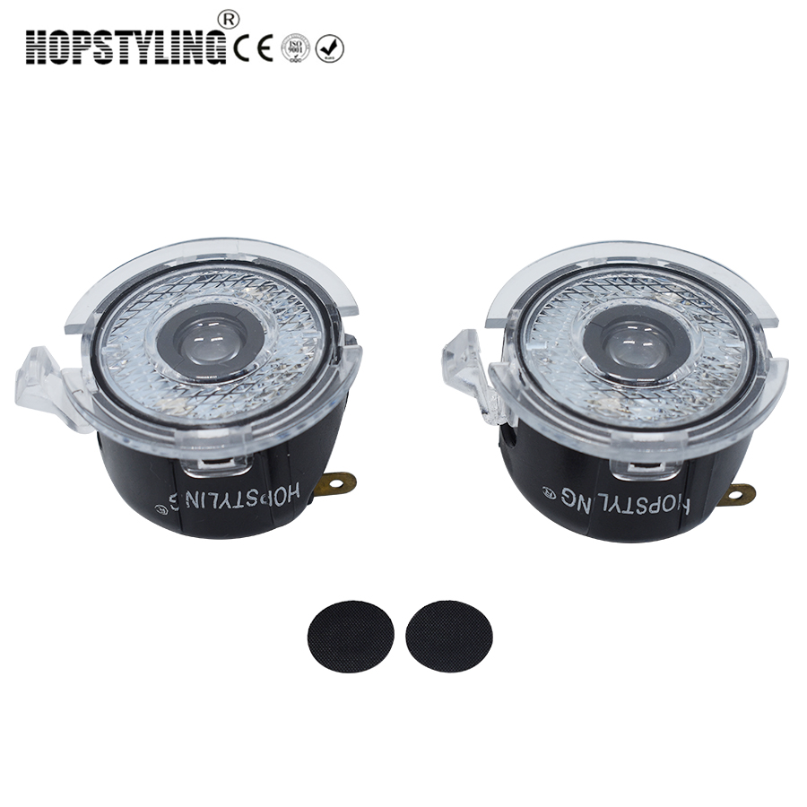 HOPSTYLING LED 2x Under Mirror Puddle light For Ford Edge Mondeo Explorer Everest F150 Taurus Fusion car logo welcome ghost lamp hopstyling 2x 18smd led number plate light for ford mustang 2010 flex taurus focus fusion mercury led license plate light bulb