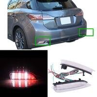 2 шт. красный + белый задний противотуманный фонарь задний бампер + стоп-сигнал для Lexus CT200h 2011-13 A