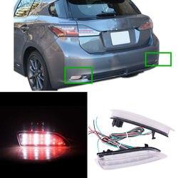 2 sztuk czerwony + biały tylna lampa przeciwmgłowa tylny zderzak + światło hamowania dla Lexus CT200h 2011-13 A