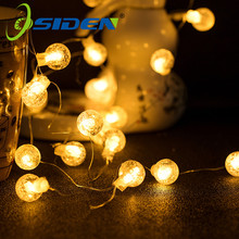 Crystal Balls Fairy Lights Waterproof 20 50LED Outdoor Starry Lights AA Battery USB Powered String Lights Decorative Lighting cheap OSIDEN 2Year 1-5m Christmas Plastic None Wedge bedroom Garland XMAS lights Holiday 20-50 head outdoor lighting LED Bulbs