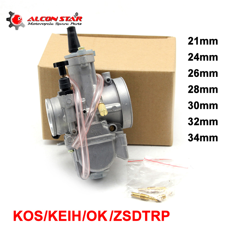 Alconstar- 21 24 26 28 30 32 34mm Carburator KOSO KEIHIN PWK OKO Motorcycle Carburador Used 2T 4T Scooter Motocross ATV Racing