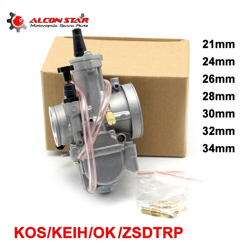Alconstar-21 24 26 28 30 32 34mm Carburador KOSO Park PWK OKO de la  motocicleta Carburador usado 2 T