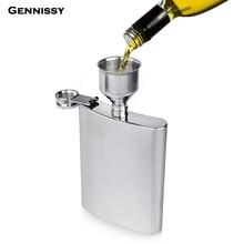 GENNISSY 1 шт. 1 унц. Большой размер бедра колба Лейка для вина из нержавеющей стали заливки Decanting воронки с фильтром ситечко для виски