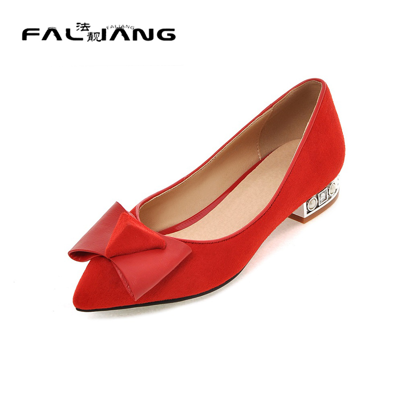 ФОТО Big Size 11 12 Sexy Butterfly-knot Casual Pointed Toe Square heel Women's Shoes Pumps Woman For Women