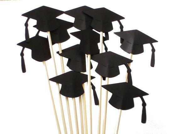 graduation cap drink cocktail stirrers food skewers swizzle sticks