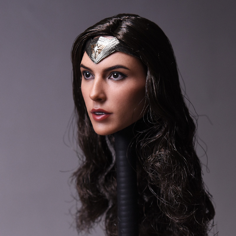 Practical 1/6 Scale Head Sculpt Batman Superman Wonder Woman Justice Dawn Female Girl Carving Woman Headplay For 12 Action Figure Body Clear-Cut Texture Toys & Hobbies