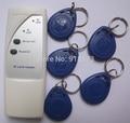 Mini Handheld 125 Khz RFID Copiadora Duplicadora Cloner ID reader & escritor com 5 pcs EM4305 keyfob gravável